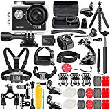 #8: Neewer G1 Ultra Hd 4k Action Camera Kit Includes 12mp, 98 Ft Underwater Waterproof Camera 170 Degree Wide Angle Wifi Sports Cam High-tech Sensor With 50-in-1 Action Camera Accessory Kit