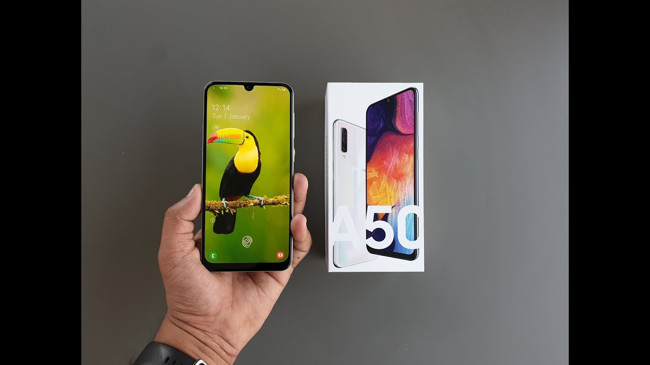 Samsung Galaxy A50's Prism White Color Option