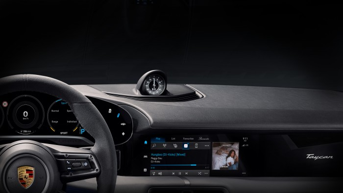 Dashboard of the Porsche Taycan (Image: Porsche)