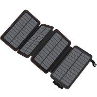 Solar panel with power bank